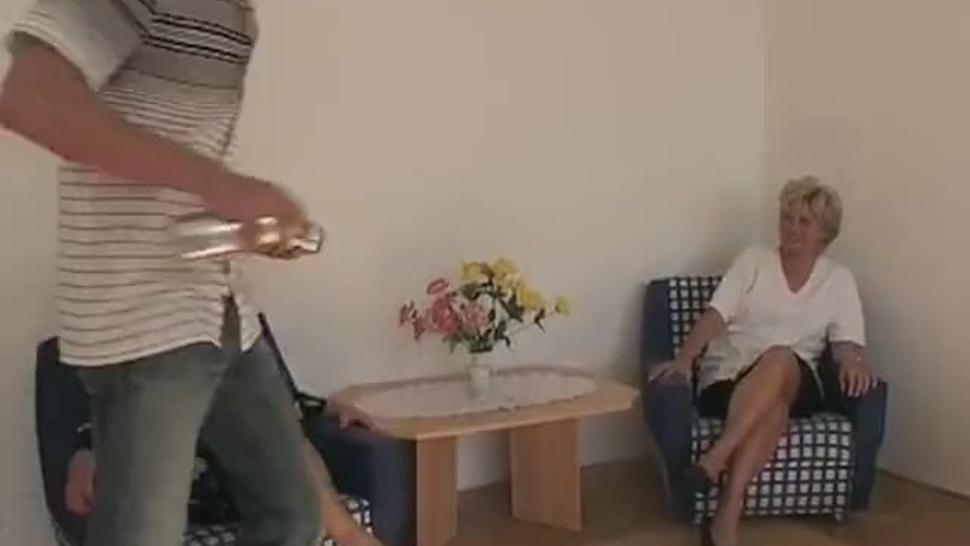 Two Mature excited ladies help the boy in his studies. Fortunately for him, it was sex education, an