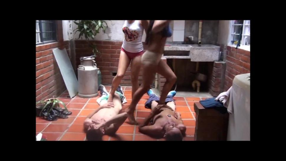 3 latinas trample 2 slaves