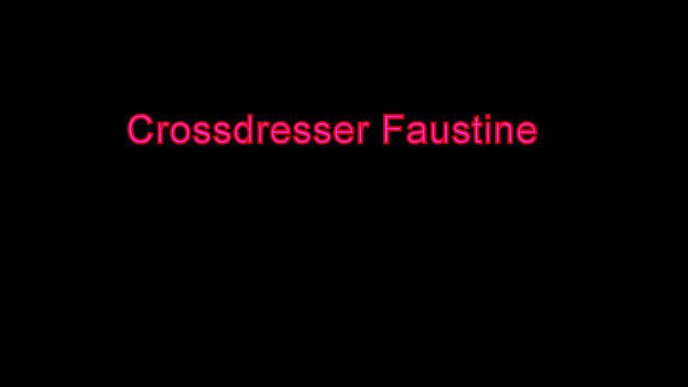 Sissy Crossdresser Faustine in Body and Stockings Sucks Fat Daddy