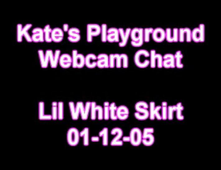 kate playground lil white skirt