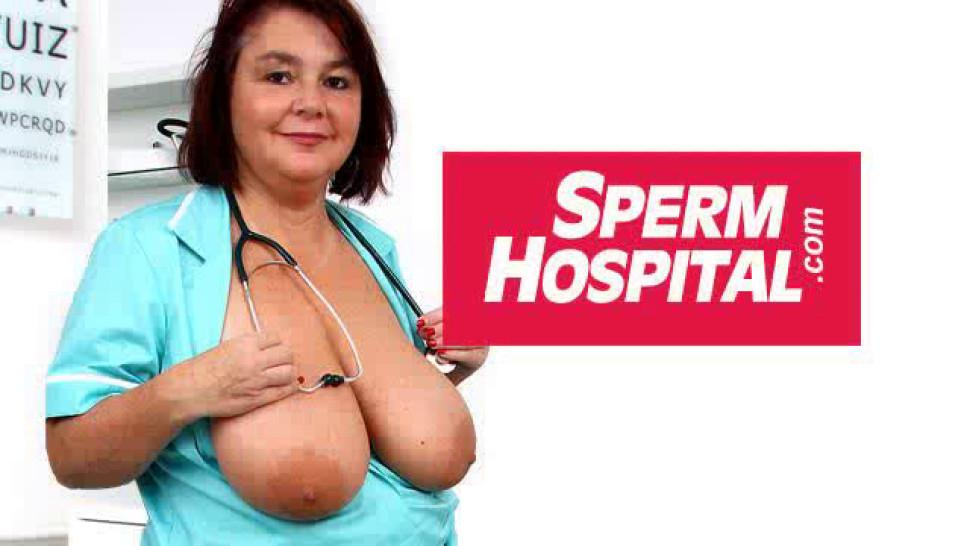SPERMHOSPITAL - Great cfnm old with young handjob by dirty milf Danielle