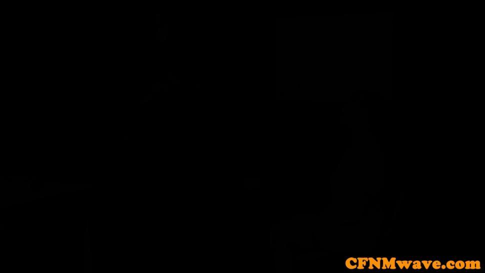 PURE CFNM - Busty CFNM teacher shows teen how to tug sub