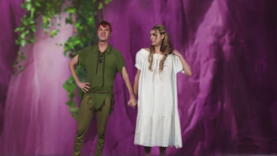 Horny Peter Pan sucked by two really randy babes in this porn parody