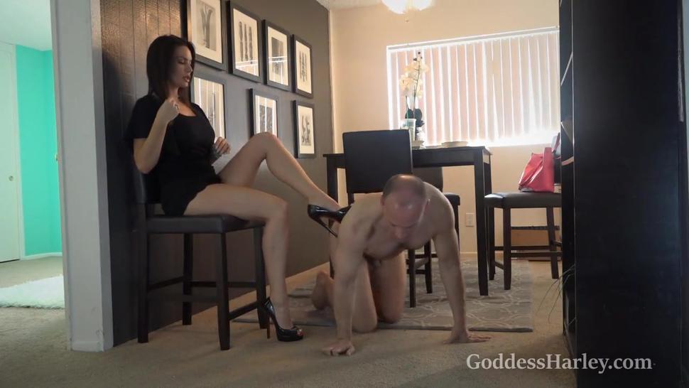 Goddess Harley and her Slave