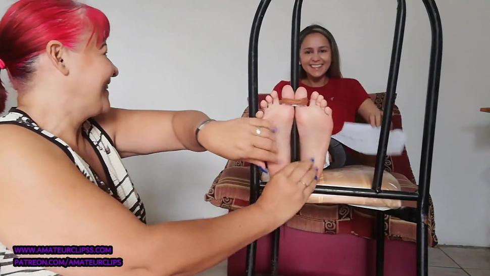 AmateurClips Yoana Chair tied and Tickled by Leticia