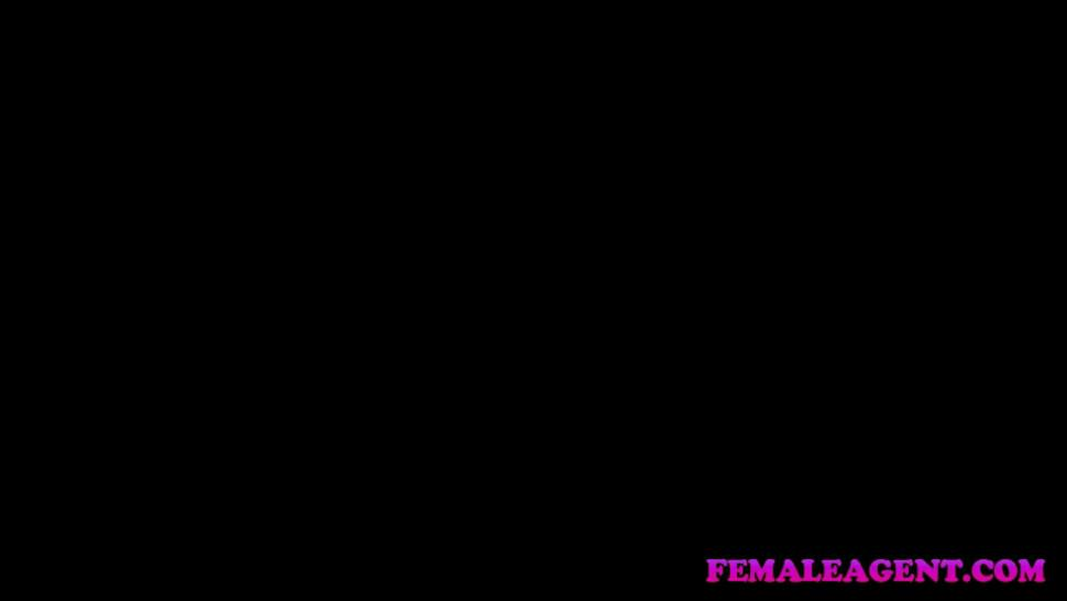 Female Agent American stud cums on sexy blonde agents face - FemaleAgent