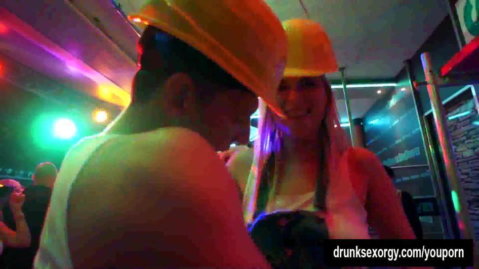 Pornstars take dicks at construction company party