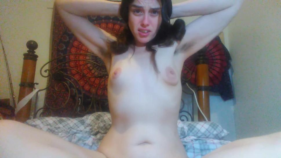 Foreign Object Insertion! Slut with a Cellphone is so Horny she Fucks her Pussy with PINK HAIR BRUSH