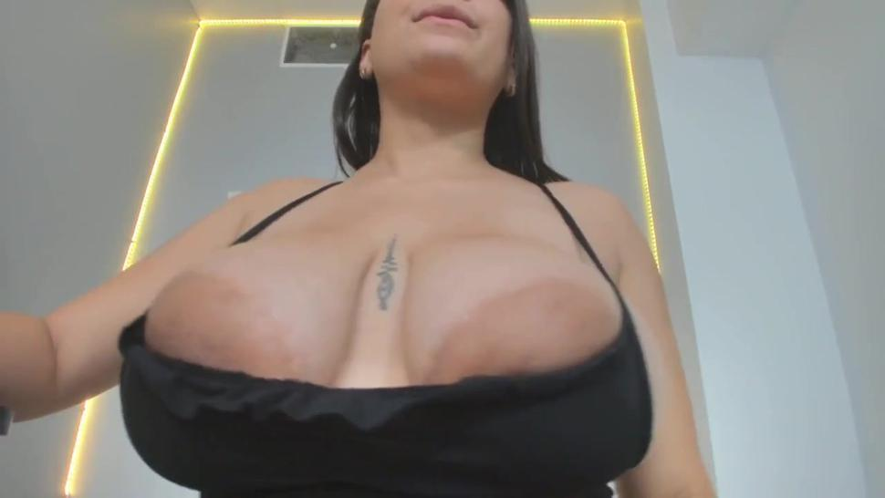 For lovers of big areolas. Measuring her huge areolas