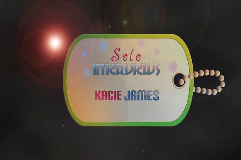SoloInterviews brunette teen Kacie James strip tease masturbating - Solo Interviews