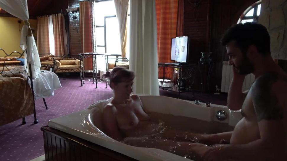 Russian Mature Sex In Hotel Jacuzzi With Young Bearded Guy