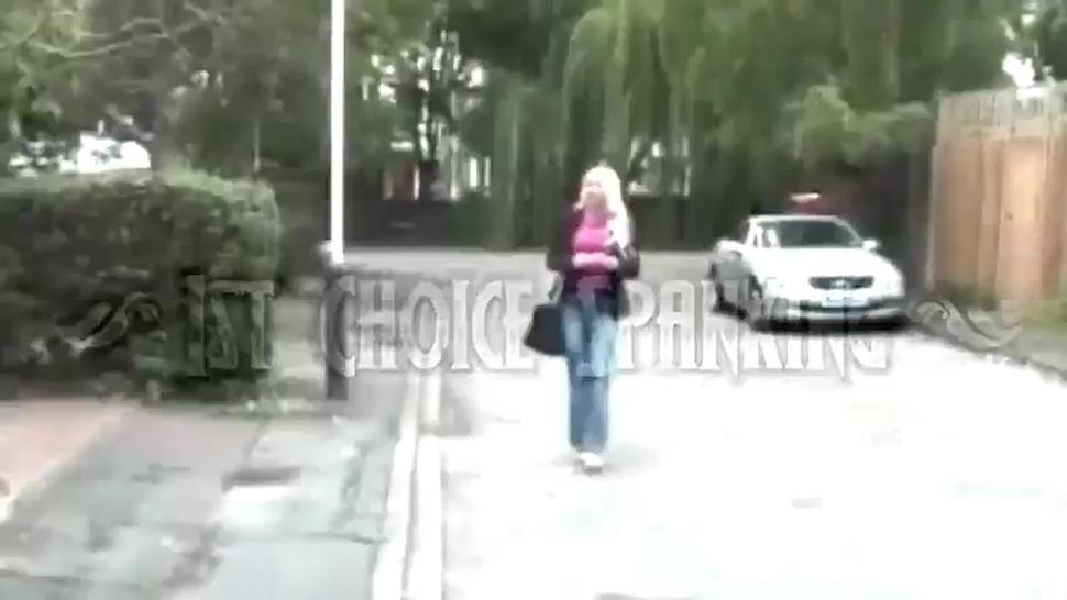Blonde maid punished