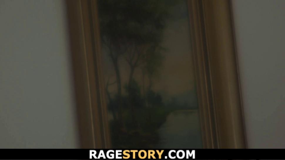 RAGESTORY - Brunette bitch deserves hard punishment for cheating