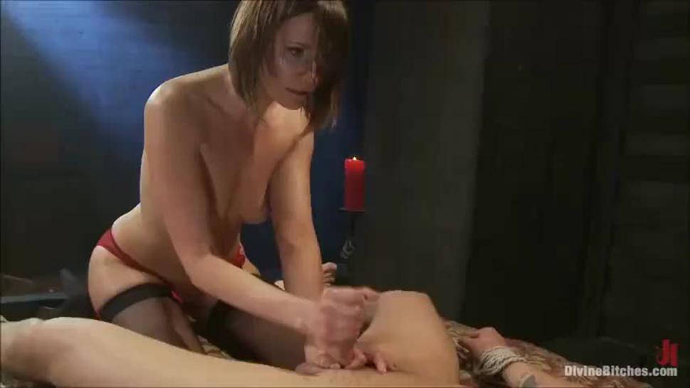 She Milks Him Dry But Won't Stop - Post orgasm torture