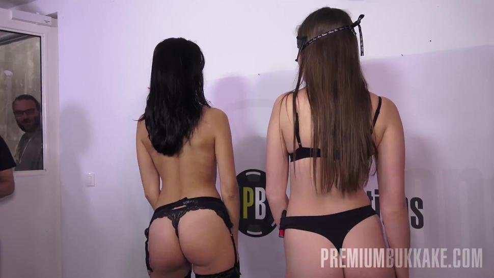 Premium Bukkake - Henna Ssy swallows 45 huge mouthful cum loads