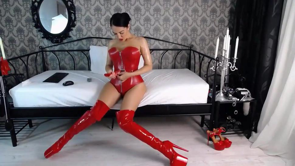 Red Latex Cam Goddess