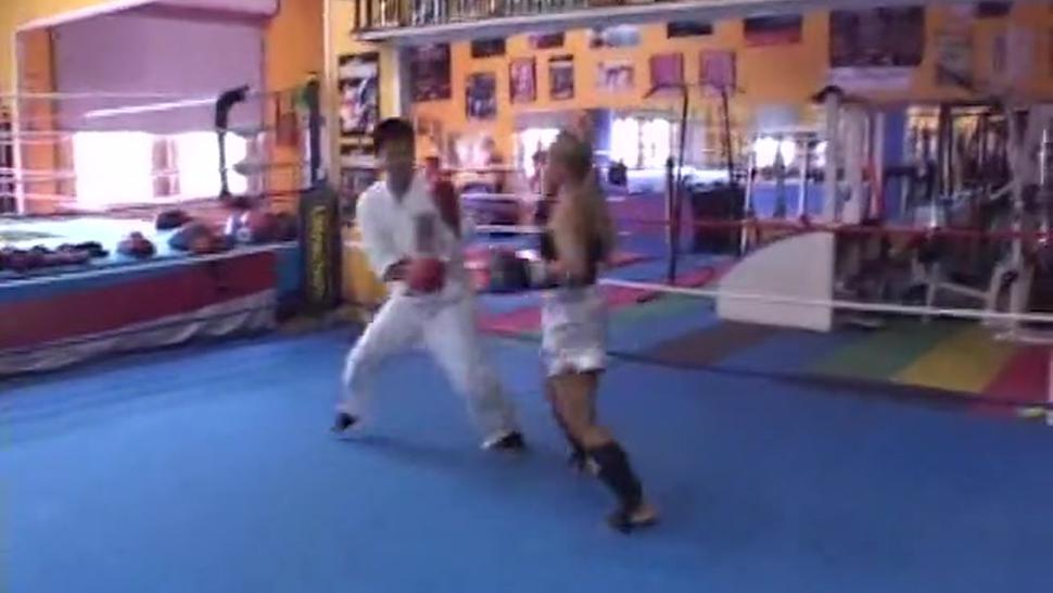 Karate Girl Beatdown Guy