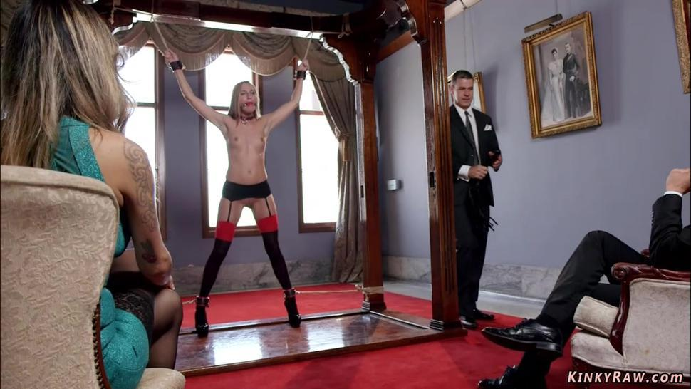 Married couple have threesome bdsm sex