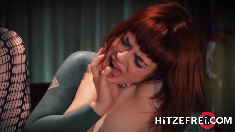 Hitzefrei, German, lesbian, toys, anal, tattoos, lingerie, licking pussy, big tits, stockings, heels, doggystyle, shaved in fron