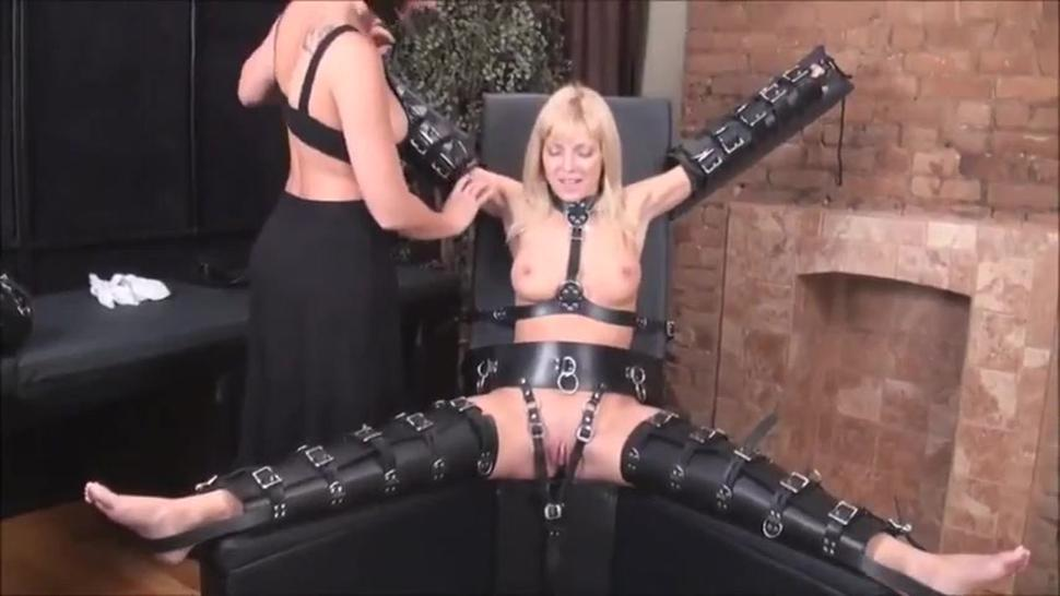 milf get tickled in bondage by woman