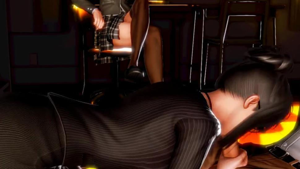 [3D HENTAI] HONEY SELECT  Horny Succubus and sexy teacher *blowjob* PART 1