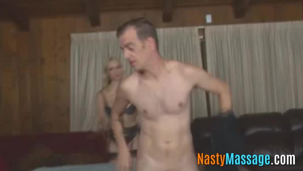 Masseuse teases and rubs my dick till I cum - NastyMassage