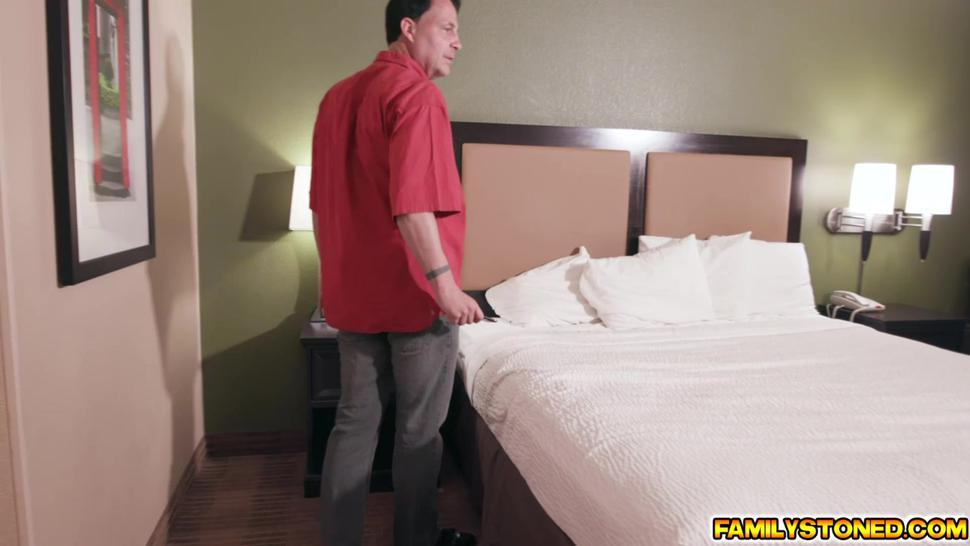 Stepdad gets to feel stepdaughter Judy Jolies sweet mouth