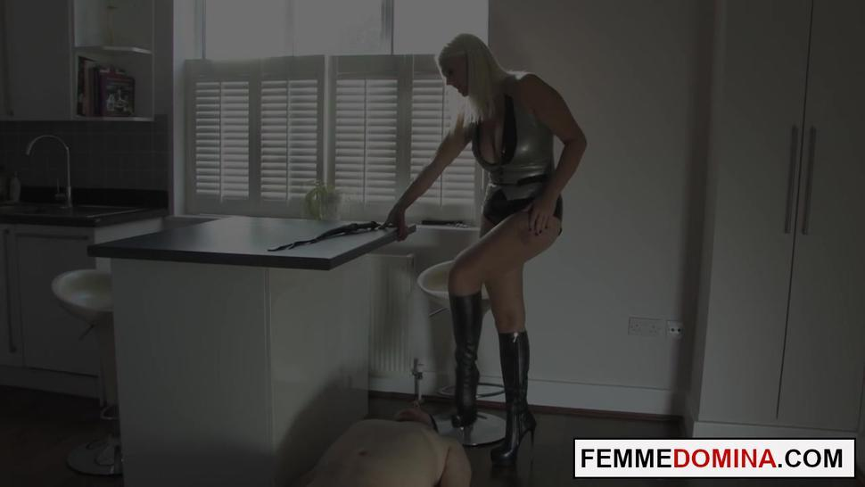 FEMME FATALE FILMS - Curvy foot master dominates sub with her feet