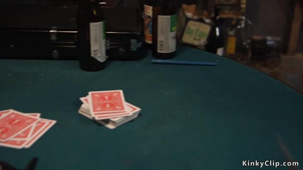Blonde gambler fucked in rope bondage - video 1