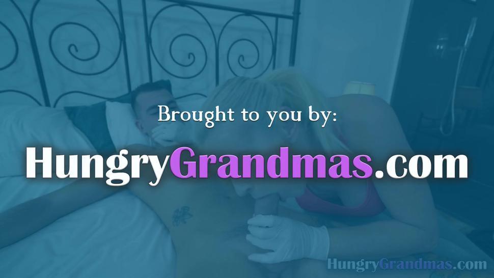 Granny with big boobs enjoying hardcore sex