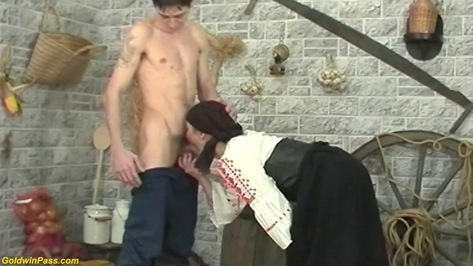 GOLDWINPASS - Ugly Hairy 92 Years Old Granny Rough Doggy style Fucked by Her Young Toyboy