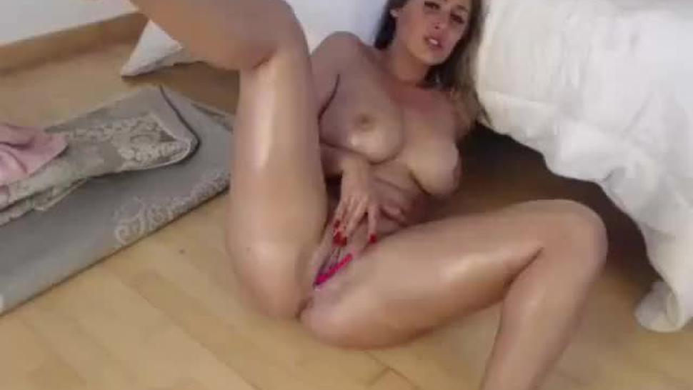 busty stepsister enjoying lovense lush toy inside her