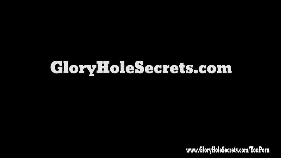 Gloryhole Secrets Hot teen cutie swallows cum POV 1