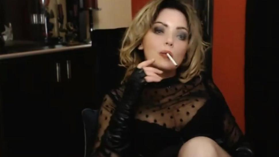 Smoking Fetish Cam Mistress Femdom Lady (Final Little Horny Smoker's Cough Fit)