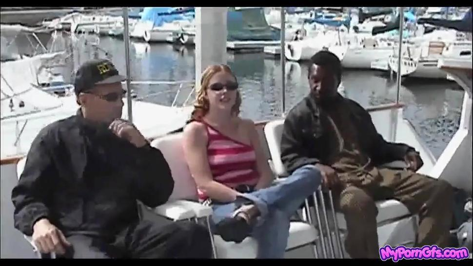 Redhead Cherry Goes Boating With 2 Cocks - Cherry Poppens