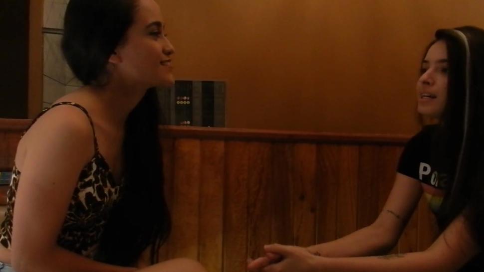 a lesbian friend seducing a straight amateur part1