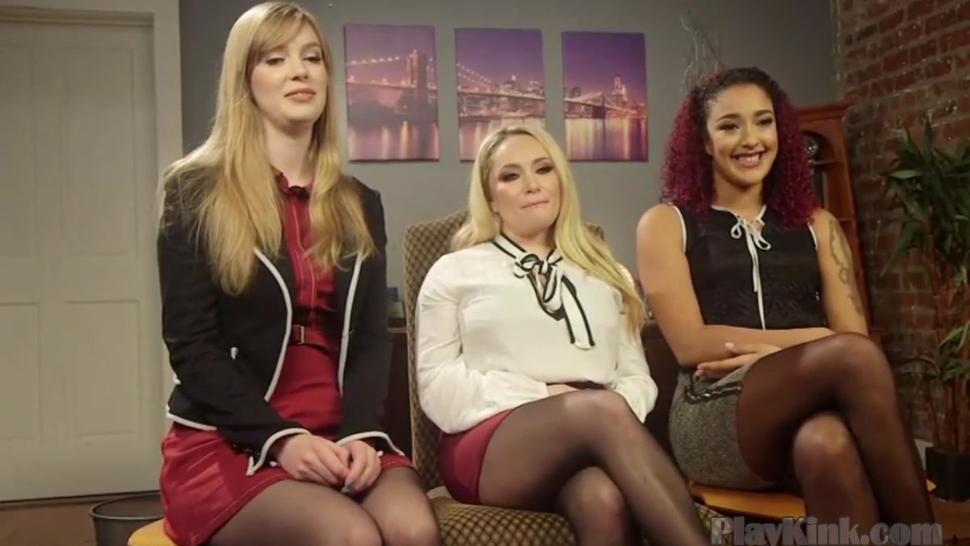 Kinky lesbian domination threesome femdom