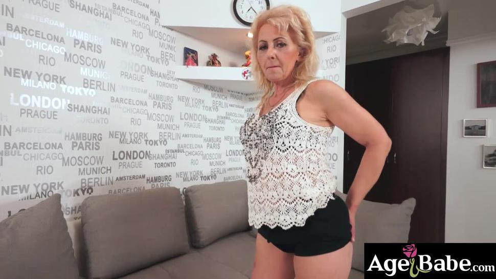 Granny Ilona willingly spreads her mature pussy to welcome a cock