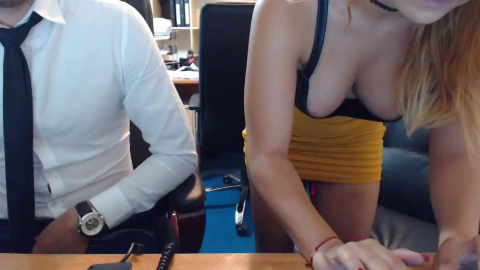 Horny Co-worker gets fucked in the office