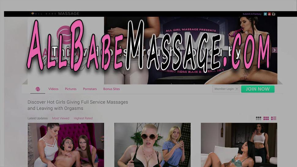 ALL GIRL MASSAGE - Teen on all fours gets licked by masseuse