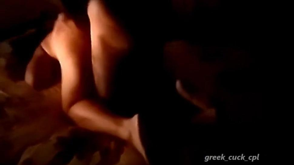 Greek Mother Enjoying Young Lover In Front Of Hubby