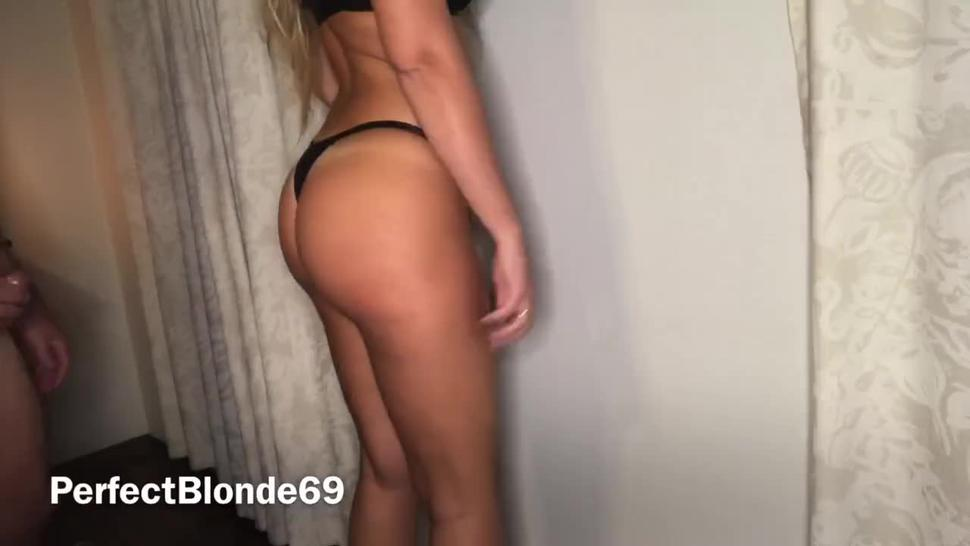 Fitness Instagram Model Loves Anal Hard Sex Stand Screw & Barstool Chair - Perfect Blonde 69