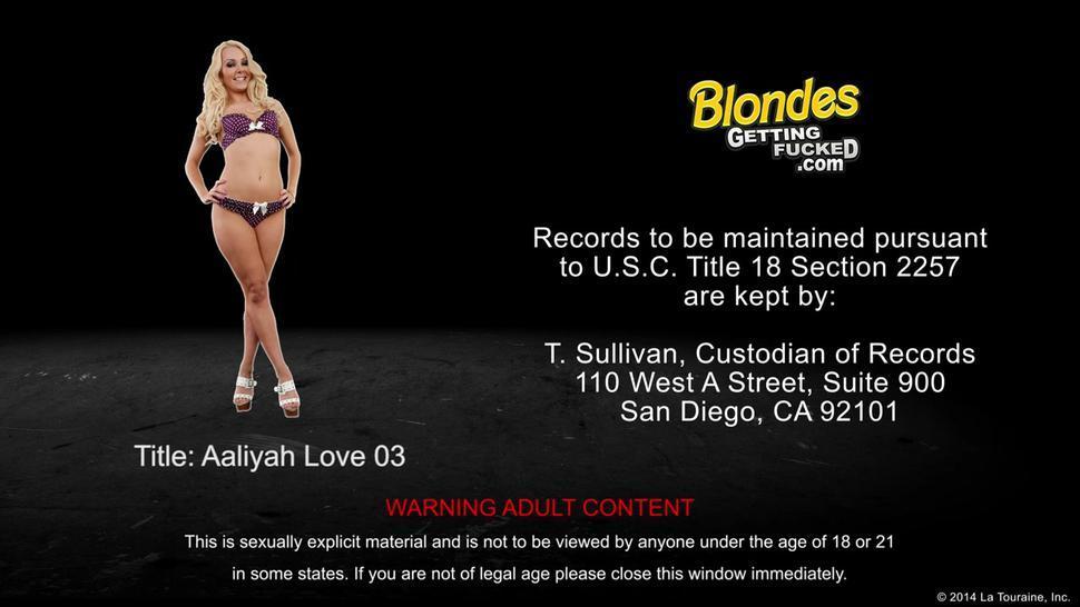 Blonde Aalyiah Love Gets Facialized - Aaliyah Love