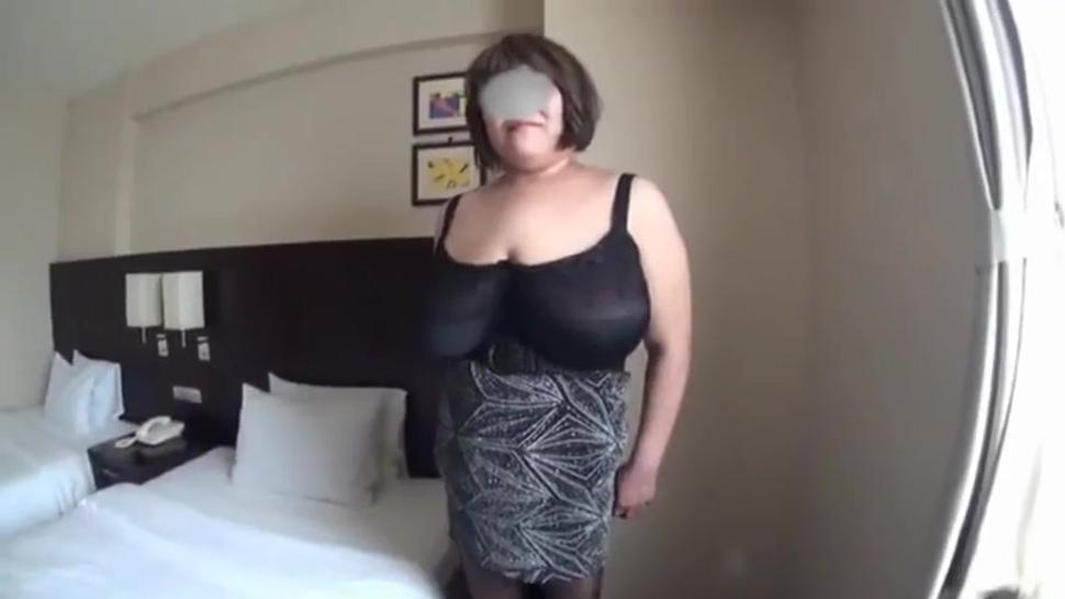 Japanese granny with huge boobs