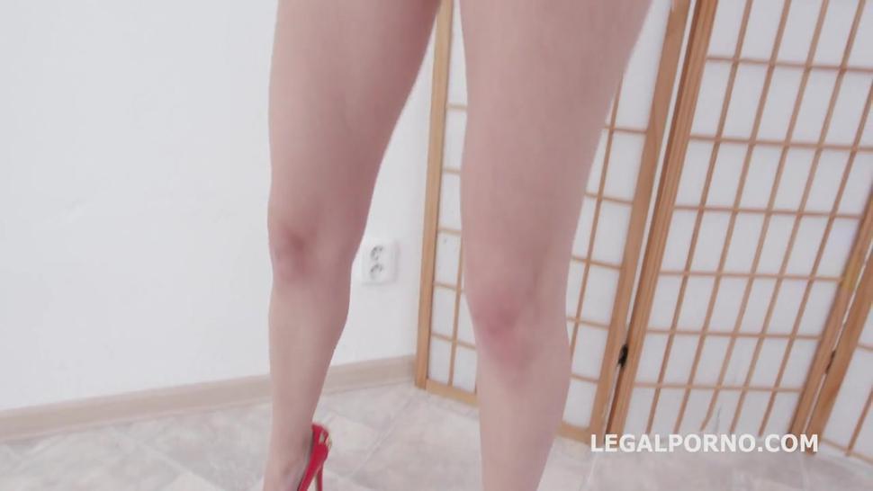 Legalporno DAP Destination, Kristen Clover gets 4on1 Balls Deep Anal, First DAP, Round Gapes, Cum in Mouth GIO1237