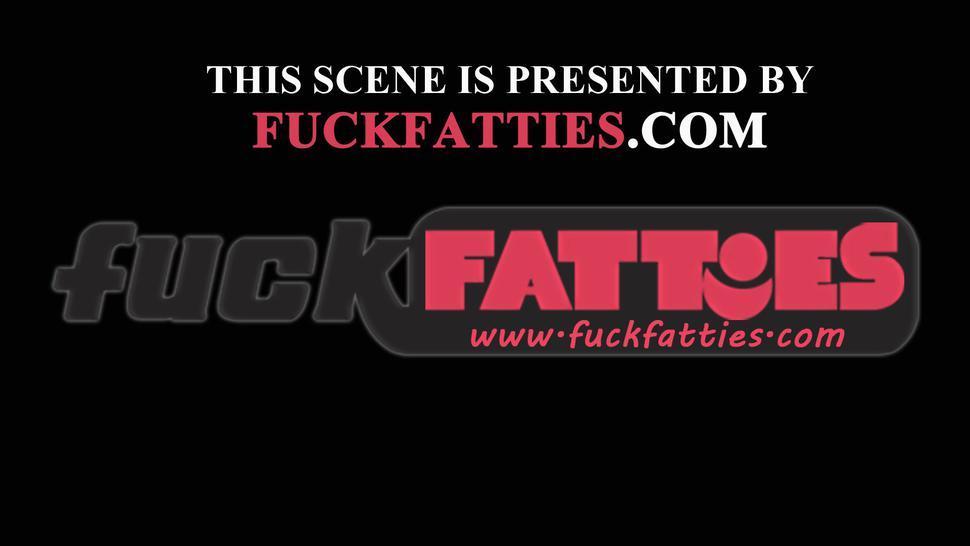 FUCKFATTIES - Bound BBW Choco Slapped And Tit Fucked Interracial