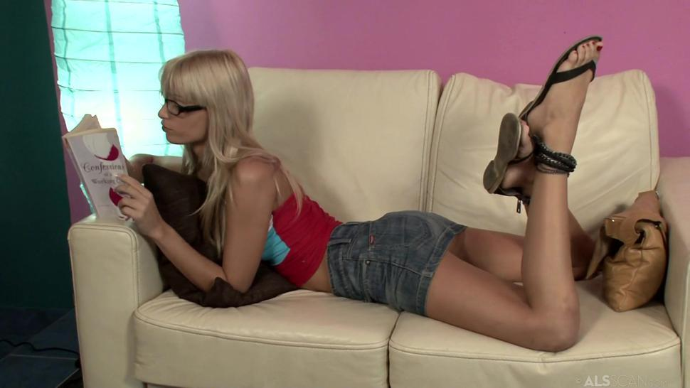 Blonde Girl On Couch - Erica Fontes