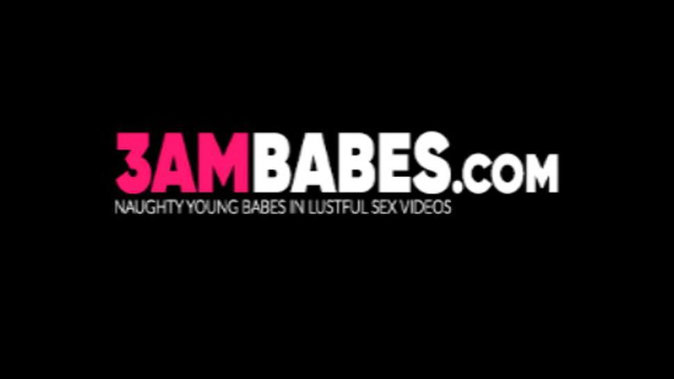 3AM BABES - Horny natural tits babes hardcore fucked in hot threesome