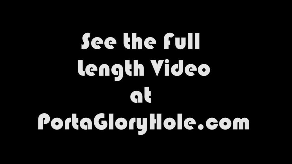 Porta Gloryhole Milf needs money so she sucks dicks for money