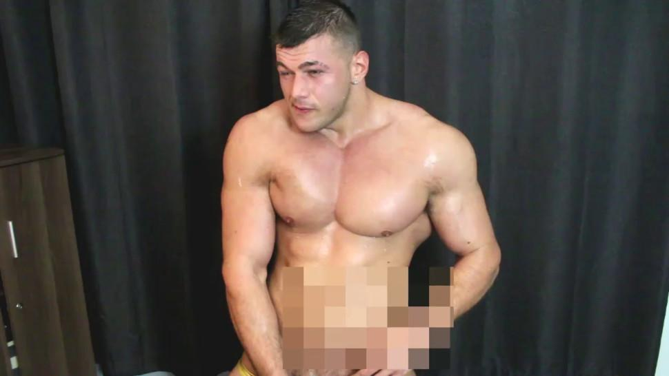 Monster Muscle man cum
